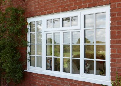 Traditional white Georgian PVCU replacement windows by Force 8