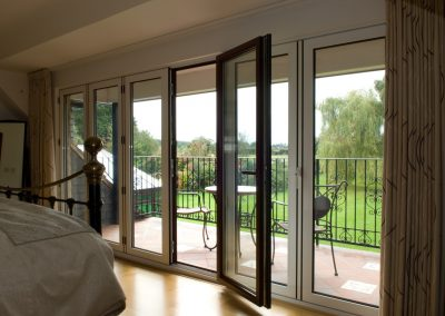 Internal view of Aluminium Bi-Folding Doors by Force 8