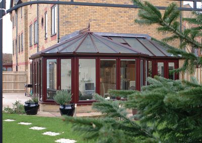 Conservatory By Force 8 Finish with a Timber look