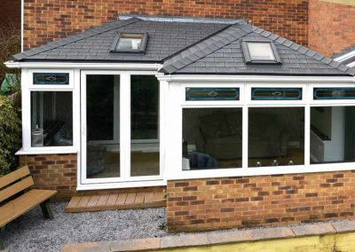 Conservatory after being Fitted with a Solid Roof By Force 8