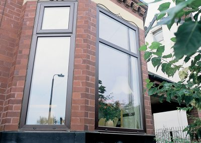 Contemporary grey PVCU replacement windows by Force 8