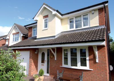 Traditional white PVCU replacement windows by Force 8